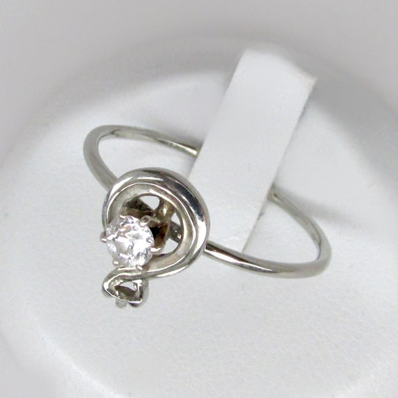 art deco diamond ring, white gold diamond ring, ci
