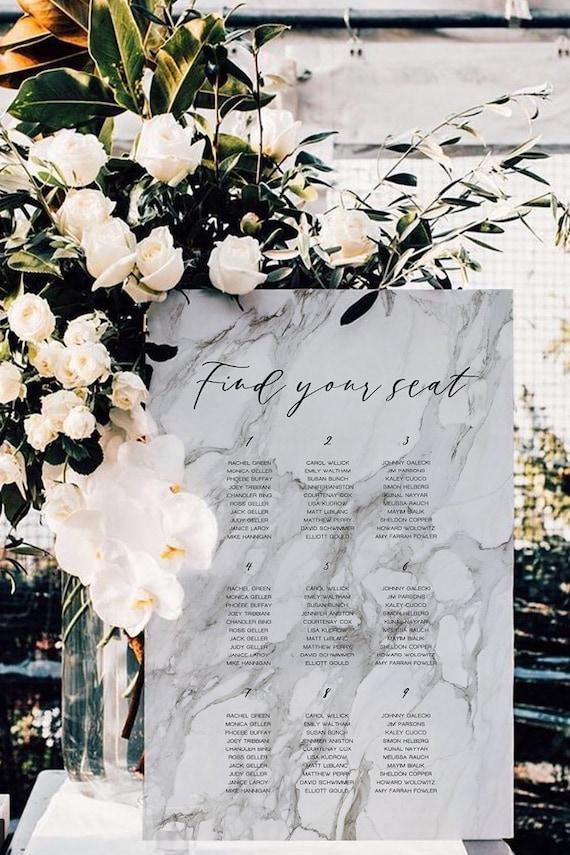 Wedding Seating Chart Printable Wedding Signs Wedding Etsy