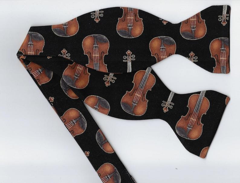 Classical Violin Bow Tie | Gold & Black | Self-tie or Pre-tied | Musical  Instrument | Mens Bow tie | Boys bow tie | Violin Recital | Concert