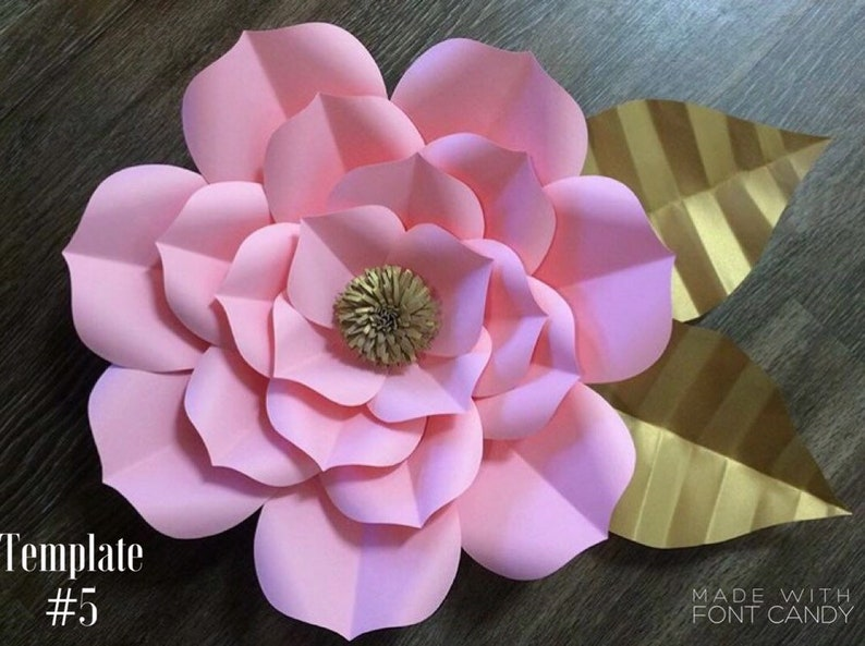 Paper Flower Template Flower Templates Diy Flowers Large Flowers