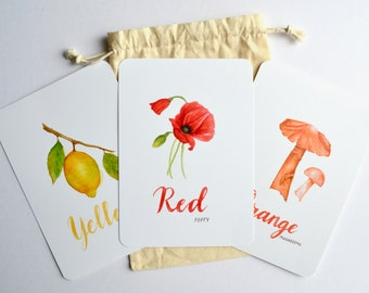 Color Learning Cards   Flash Cards   Education   Color Sorting   Nature Cards