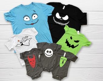 Nightmare Before Christmas Shirts | Family Halloween Shirts | Couple Halloween Shirts | Sibling Halloween Shirts | Jack and Sally