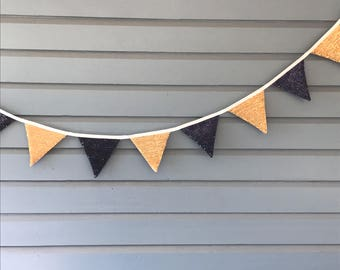 Blue and Gold Sequined bunting