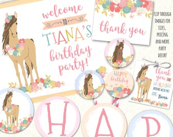 Pony Party Horse Invitation Printables Birthday Decorations Decor