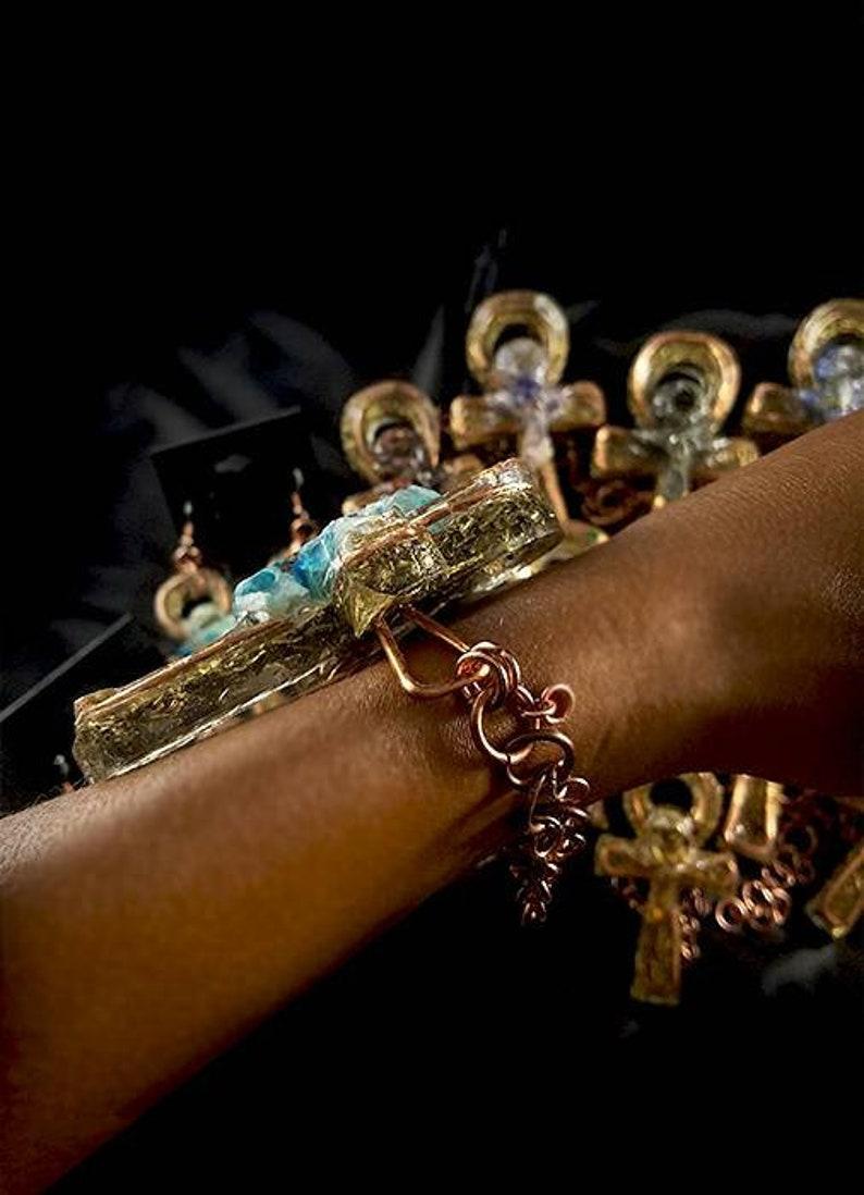 CUSTOM Order for Carlostucker171 2 x orgone Ankh bracelets and 2 x orgone Ankh rings