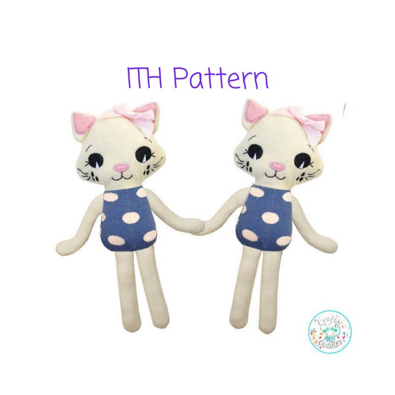 ITH Katze Spielzeug Maschine Stickerei Muster herunterladen | Etsy