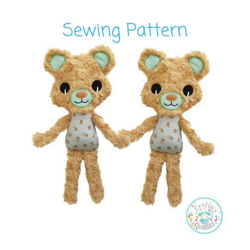 Large Teddy Bear Sewing Pattern