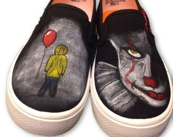 69911ca5af882b IT inspired Pennywise Painted Women s Shoes
