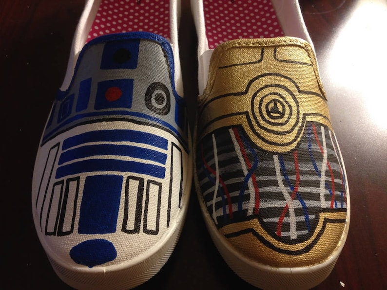 1063d051588faf Star Wars Painted Shoes