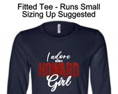 I Adore Being A Howard Girl Long Sleeve, Howard Girl, I Adore Howard, Howard Uniiversity Shirt, The Mecca, Mecca Shirt