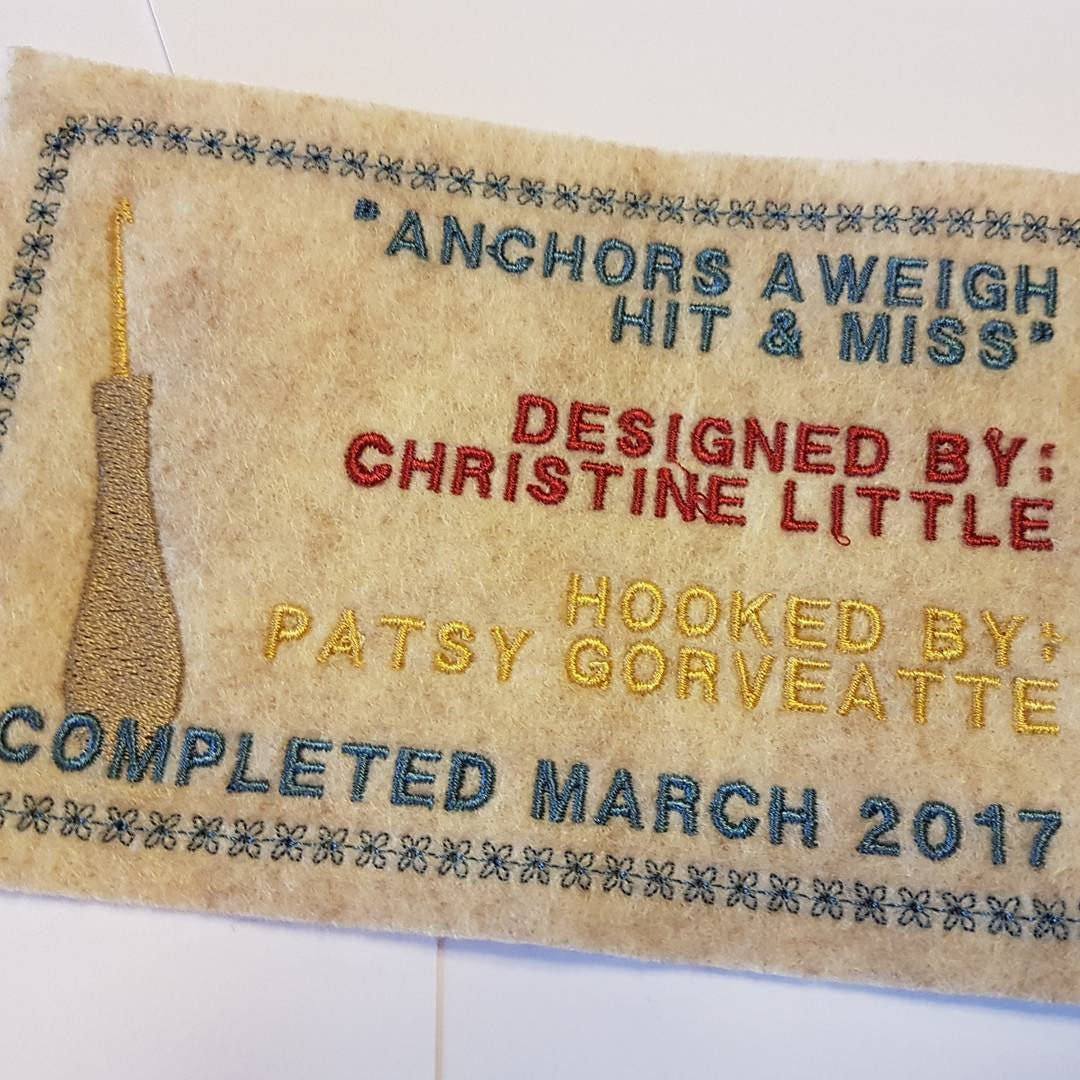 Personalized Hooked Rug Labels Custom Rug Hooking 4 X