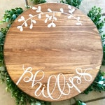 Custom Lazy Susan or Tray, Kitchen Tray, Rustic Decorative Lazy Susan || Housewarming Gift, Wedding Gift, Shower Gift, Farmhouse Tray