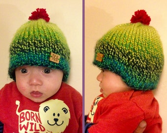 Baby's and toddler's bobble hat