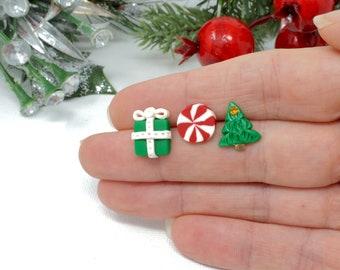 015bbf7825e34 Christmas tree studs | Etsy