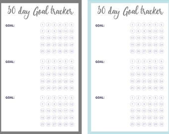 Monthly Goal Planner   Goal Planner   Printable Chart   Colorful Planner   PDF Instant Download - Keep Track Of Goals   Monthly Goal Tracker