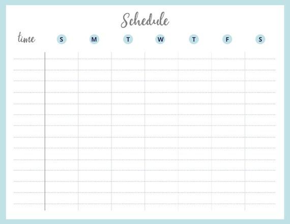 Printable Weekly Schedule