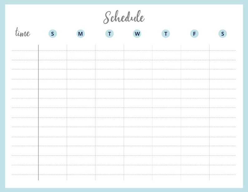 graphic relating to Printable Schedule called Printable Weekly Routine Weekly Timetable Printable Timetable Reason Planner Weekly Planner Weekly Purpose Tracker Workplace Decor