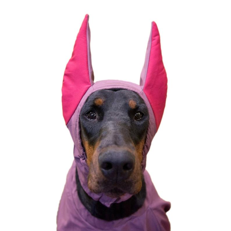 95ca8ef74 Doberman Winter Hat, Doberman Warmer, Dog Hat, Dog Clothing, Fleece Dog  Hat, Dog snood, horned doberman (CUSTOM-MADE, INDIVIDUALLY)