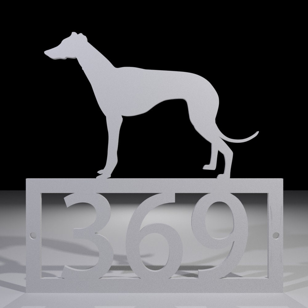 Greyhound House Number Sign