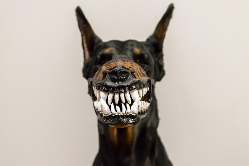 Pet Gift Werewolf Dog muzzle Scary Doberman muzzle Bloodless image 1
