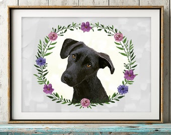 custom dog portrait, Custom dog painting, dog illustration, dog memorial, custom pet portraits, Gift for Dog Lover, Pet Loss, Pet Art
