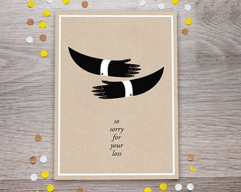 Printable Condolence Card, Sympathy Card, Sorry For Your Loss Postcard, Instant Download
