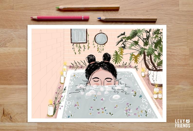 Badezimmer Poster Bild für Badezimmer Badewanne Poster | Etsy