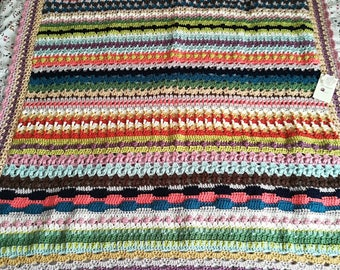 Gehäkelte Deckemoos Stitchtemperature Afghanischbunte Häkeln Etsy