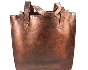 Cactus Leather Shopper bag