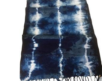 Scarf Indigo Tie Dyed Bamboo Rayon