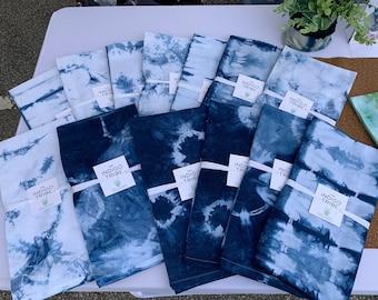 """Indigo Tea Towels Dishcloth Kitchen Towels XL Napkins 26"""" Set/2"""
