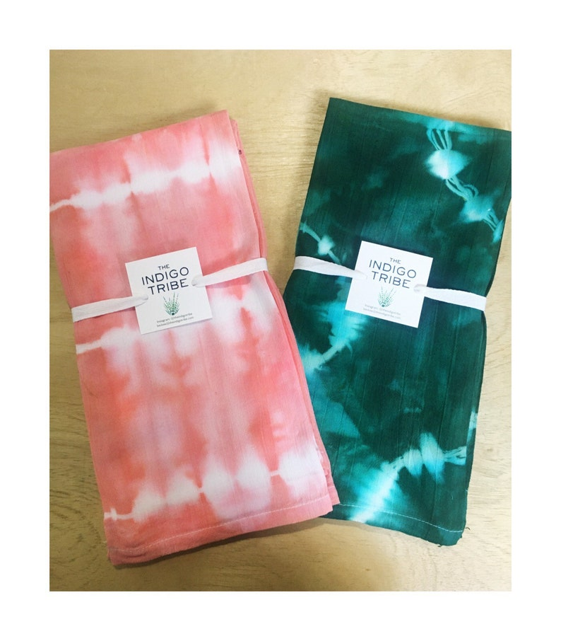 Hand-dyed Tea Towels Dishcloth Kitchen Towels Tie Dye image 0
