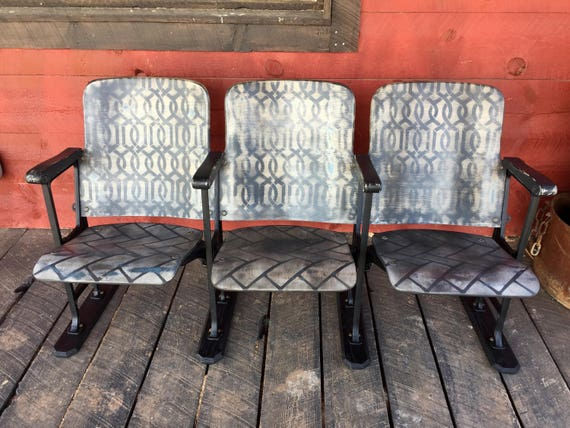 Magnificent Set Of Theatre Chairs Theater Seats Entryway Bench Seats Urban Farmhouse Chairs Loft Seating Industrial Bench Mid Century Modern Furniture Gmtry Best Dining Table And Chair Ideas Images Gmtryco