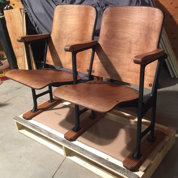 image 0 - SOLD Accepting Custom Orders Vintage Theatre Chairs Antique Etsy