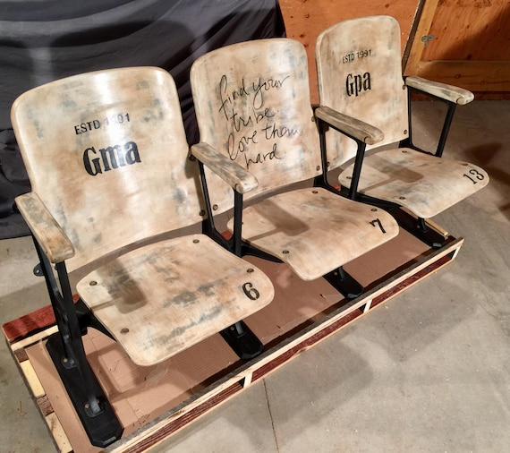 image 0 - SOLD-Accepting Custom Orders Vintage Theatre Chairs Set Of Etsy