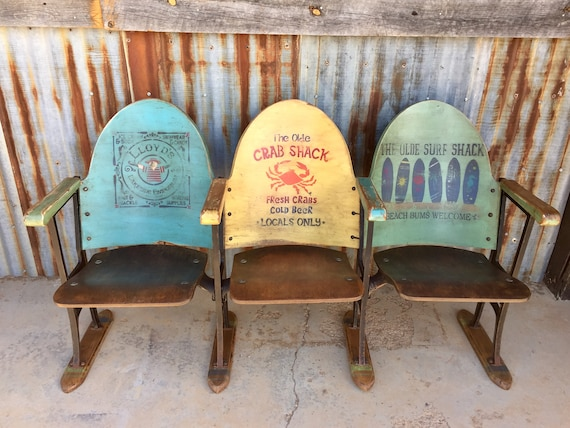 image 0 - SOLD Entryway Bench Coastal Furniture Nautical Beach Chairs Etsy