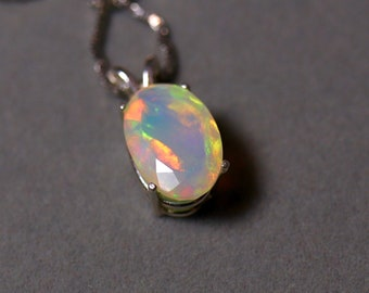 Natural fire opal, opal necklace, fire opal pendant, genuine fire opal, unique gift, birthday gift, gemstone necklace, gold opal jewelry,