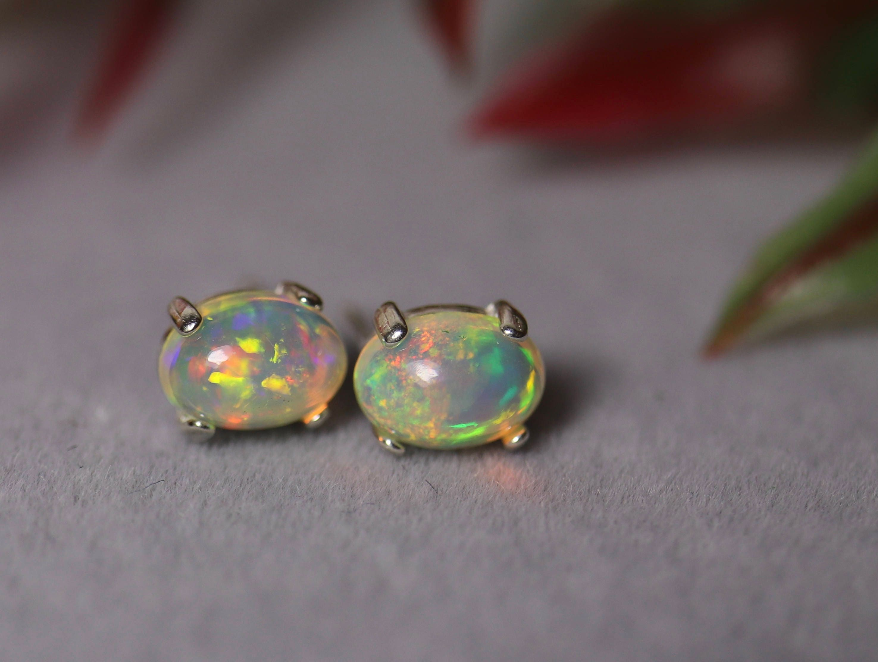 earrings listing opal vintage stud hypoallergenic glass post genuine jewelry black fullxfull studs il fire