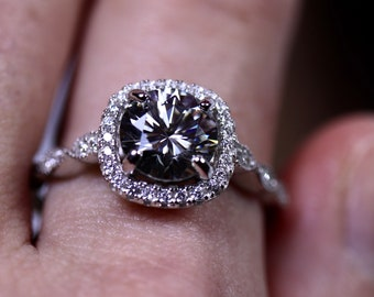 Gray moissanite, moissanite jewelry, bridal ring, wedding jewelry, engagement rings, bridal jewelry, anniversary gift, gift for her
