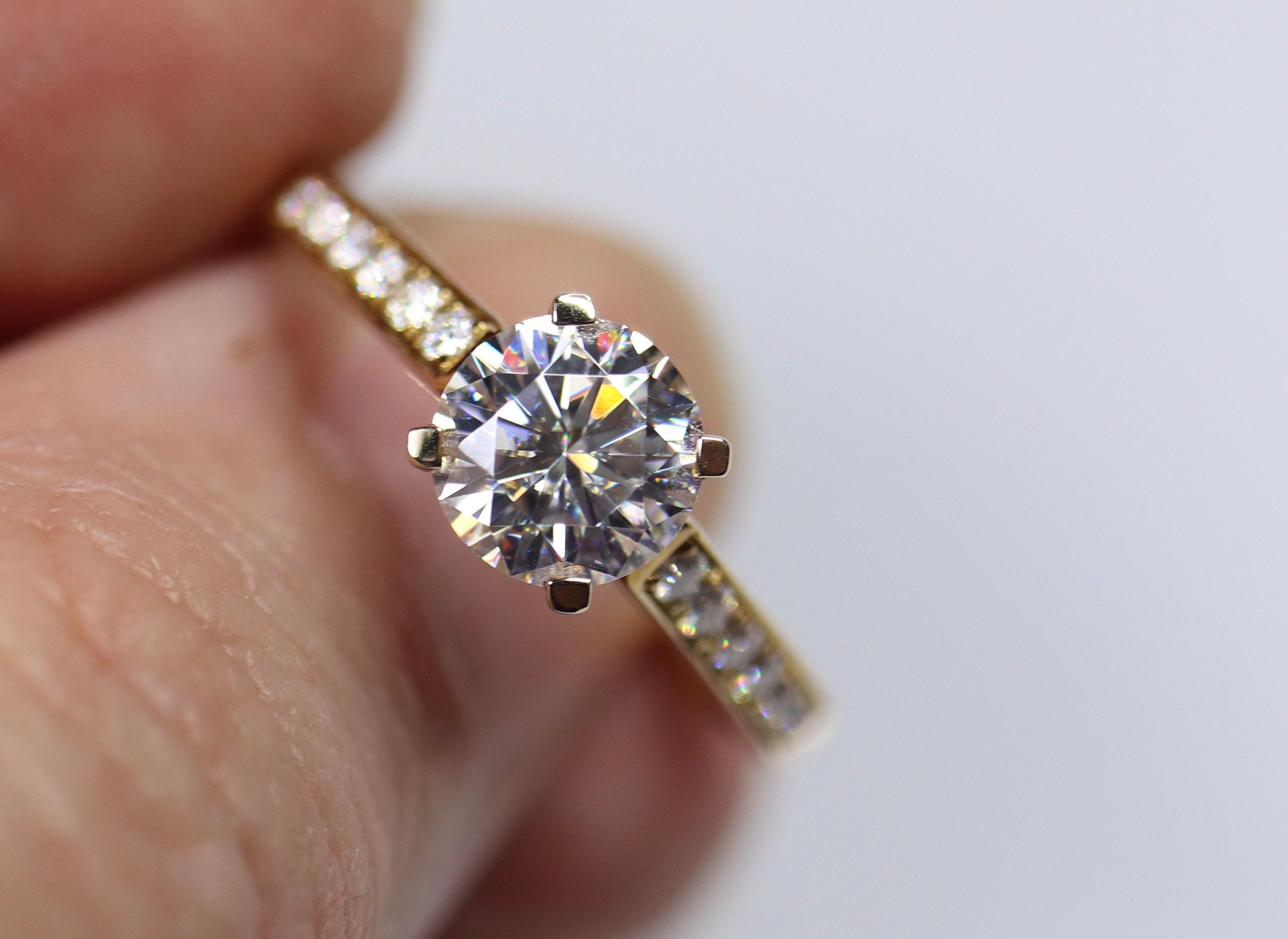 Wedding Ring Set Moissanite Band Engagement Rings Moissanite