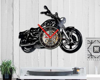 harley vinyl clock motorcycle fan gift harley fan motorcycle gift motorcycle art motorcycle clock motorcycle decor motorcycle rider