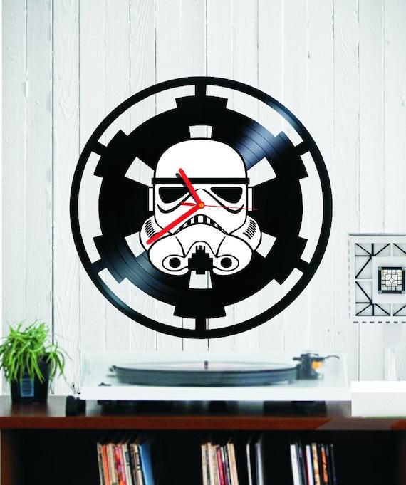 Star Wars Stormtrooper Vinyl Clock Wall Clock Record Clock Etsy