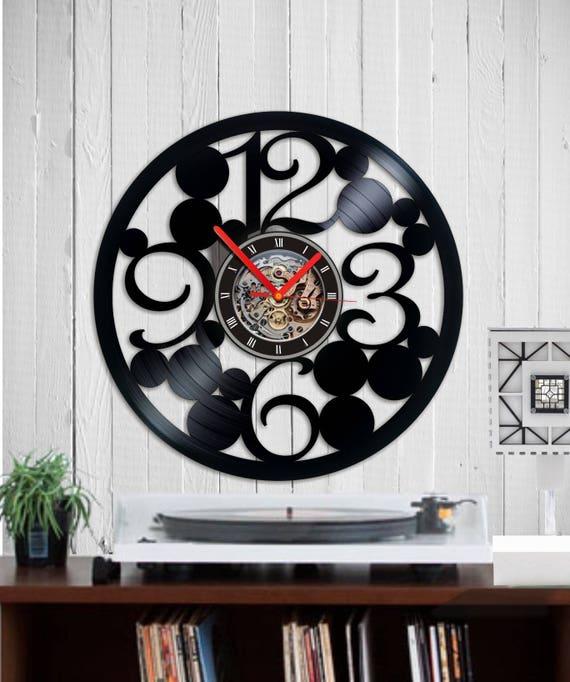 Vinyl Uhr Zahlen Große Wanduhr Wanduhr Große Vinyl Wanduhr Etsy