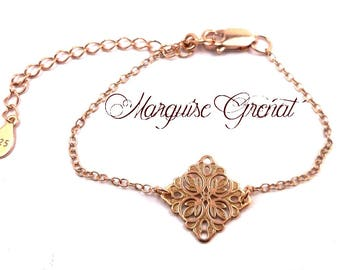 Silver and gold rose gold filled minimalist baroque engraving