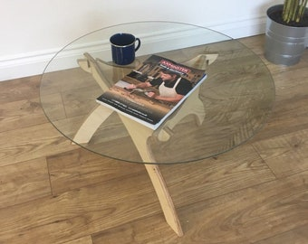 Glass Coffee Table Etsy