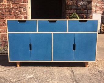 Grain - Birch Plywood Dresser - 3 Drawers and 2 Double Doors