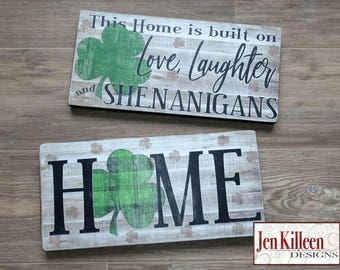 Eat Drink And Be Irish Wood Sign St Patricks Day Etsy