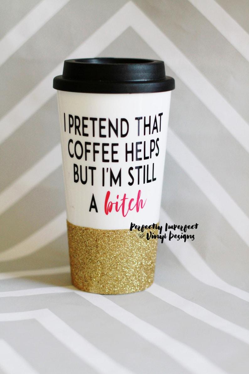 0e1757a44b0 Glitter Dipped Travel Coffee Mug  Glitter Coffee