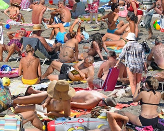 Crowded Beach! Have someone put into the scene by sending me a photo...