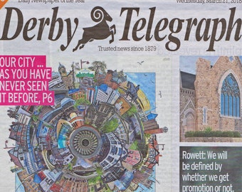 Worlds Apart - DERBY. Home of Intu, Arena, Cathedral, Rams, Roundhouse, Carsington, Calke Abbey